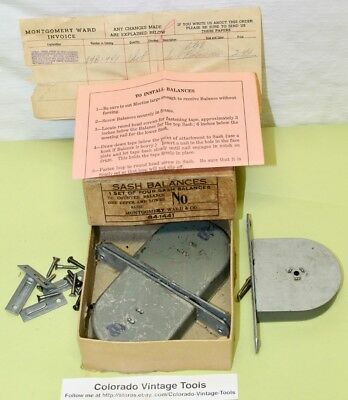 (3) NOS 8 Lb Vintage MONTGOMERY WARD Window Sash Balances & More / $8.00 to Ship