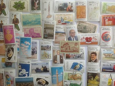 100 Different Turkish Cyprus Stamp Collection