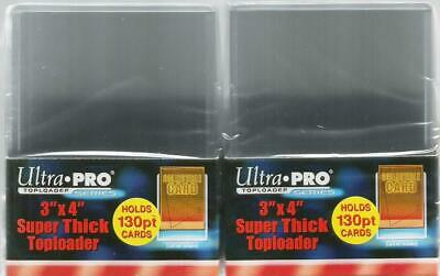 Ultra Pro Trading Card Top Loaders Two Packs 130pt Toploaders 76mm x 102mm