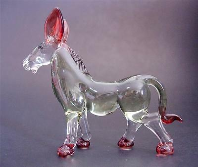 Glass DONKEY MULE Tinted Green Glass Ornament Glass Animal Glass Figure Gift