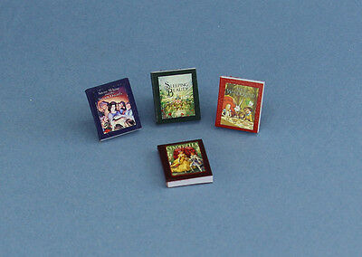 1:12 Scale Dollhouse Miniature Set of 4 Fairy Tales Books #HCX143