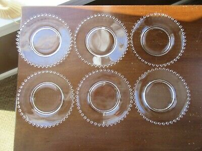 """6 - Imperial Glass Candlewick 6 1/4"""" Bread Plates"""