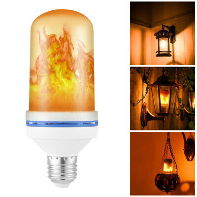 4 Modes with Gravity Upside Down Effect Lamp E27 Base LED Flame Light Bulb 5W