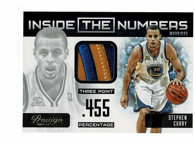 50230ef15 2012-13 Panini Prestige Stephen Curry Inside the Numbers 2 Color Patch  8