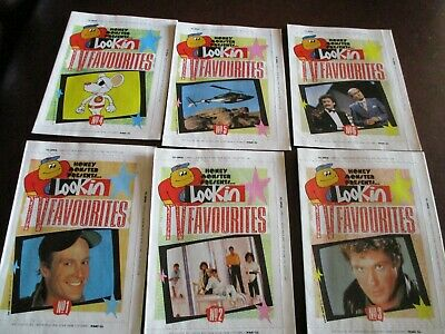 Quaker Oats Honey Monster Lookin Tv Favourites  Set Of 6 Small Magazines