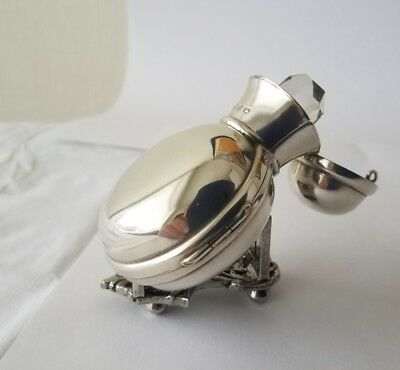 Fine Antique Solid Silver A & J Zimmerman Perfume Bottle Scent Flask Birm 1898