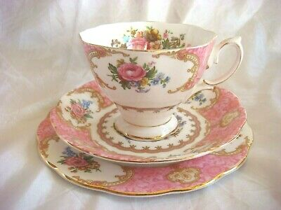 Lovely Vintage Royal Albert Tea Set Trio in the Classic Lady Carlyle Design