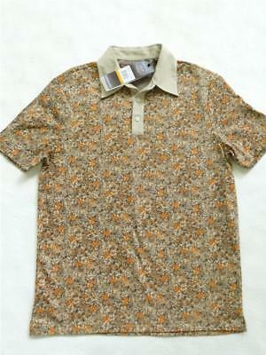 ab403f7fa9 NWOT PERRY ELLIS LUXURY PIMA COTTON FLORAL PRINTED POLO SHIRT