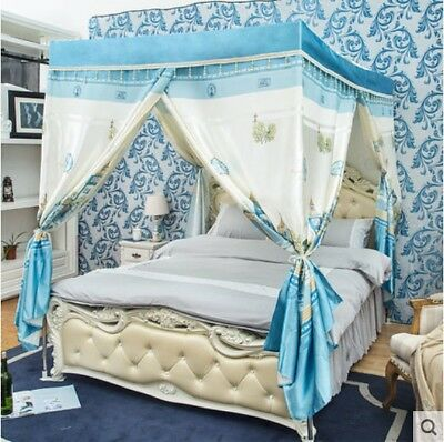 Double Cartoon Floor Type Dust Prevention Bed Canopy Mosquito Net Bed Curtain .