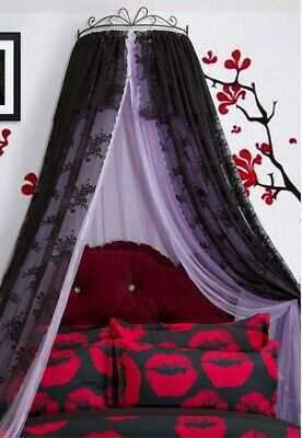 Double Size Purple  Ceiling Mosquito Net Bedding Bed Curtain Netting Canopy .