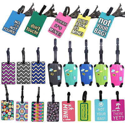 KQ_ HOT Suitcase Luggage Tags Name Address ID Address Holder Identifier Label Be
