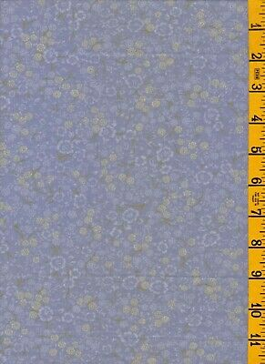"""2Yd 7"""" Cotton Quilt Sew Fabric Tiny Floral on Lavender Fabric Traditions 011401"""