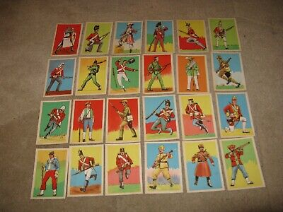 Vintage Chix Gum Cards Soldiers Of The World x 43/50