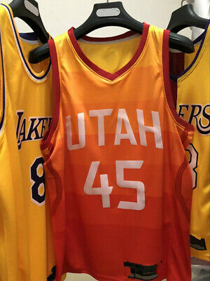 81fc467bca2 Hot print Utah Jazz  45 Donovan Mitchell City Edition Basketball Jersey