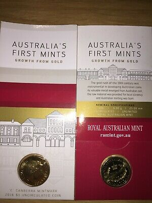 2016 $1 Australia's First Mints Growth for Gold- 'C' Canberra Mintmark Coin