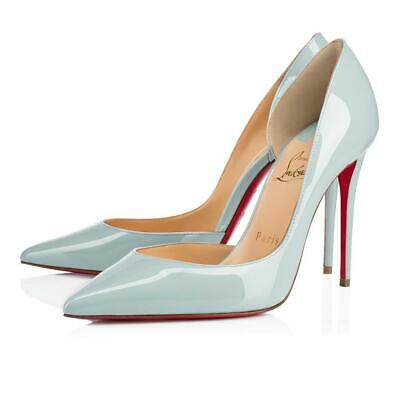 b5331c72ab4c Christian Louboutin IRIZA 100 Patent D Orsay Heels Pumps Shoes Blue Nuage   695
