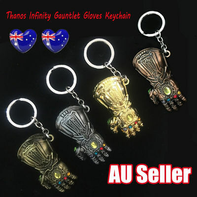 Thanos Infinity Gauntlet Gloves Keychain Keyring Pendant Avenge Infinity War L3