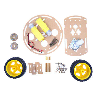 2WD Double-Deck Smart Robot Car Chassis DIY Kit Speed Encoder for Arduino