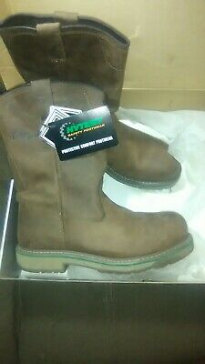 5f3471043dd BRAND NEW HYTEST 11D Footrests Brown Steel-toe Safty Boots 25141 NEVER WORN