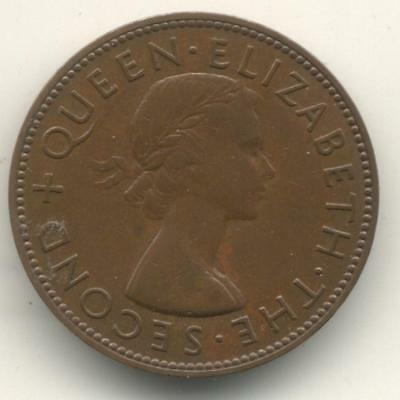 New Zealand 1956 Strapless Penny Very High Grade