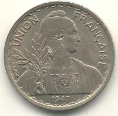 French Indochina One Piastre 1947 Uncirculated