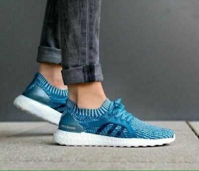 90c94f41af11c ADIDAS Ultra BOOST X PARLEY Women Running Shoes Core Blue Intense Blue  BB1978