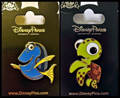 Disney Parks 2 Pin Lot FINDING NEMO Dory + Squirt turtle