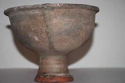 Ancient Indus Valley Pottery Stem Bowl 2800 1800 Bc Harappan