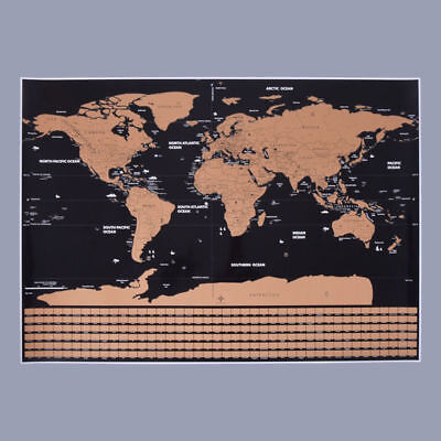 Large Size Scratch Off World Map Poster Personalized Travel Vacation Gift