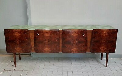 Original Italian Walnut Long Sideboard From 1960 Vintage  Modern Design