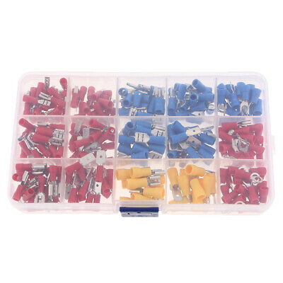 280pcs Insulated Terminals Wire Electrical Crimp Connector Spade Terminal