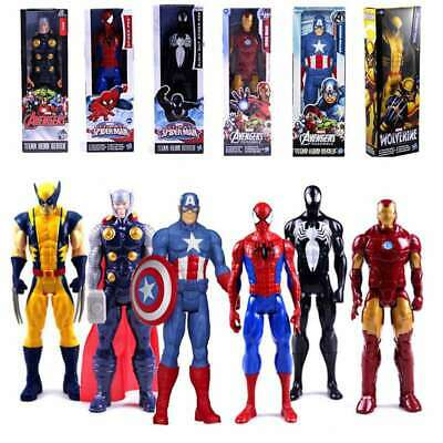 Marvel Avengers Spiderman THOR Captain Wolverine Action Figure Toys 12 Inches