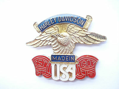 Sale - Harley Davidson Eagle Motorcycles Club Bobber Bike Jacket Sign Pin Badge