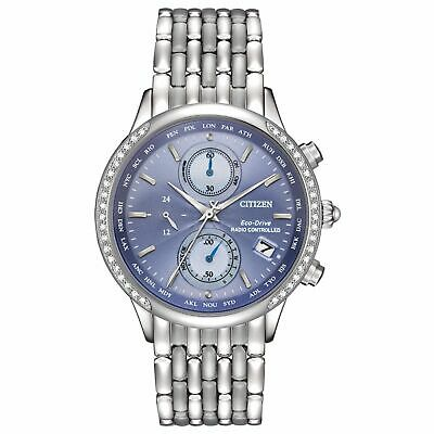 Citizen Ladies Eco-Drive Diamond Radio Controlled Chronograph Watch - Fc5000-51L