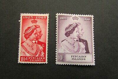 XL4100: Pitcairn Islands (1948).  Complete KGVI RSW Mint Stamp Set to 10/-