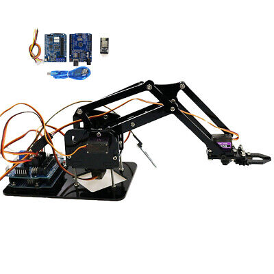 4 DOF WIFI Robotic Manipulator Arm Claw Gripper Servo For Arduino Raspberry
