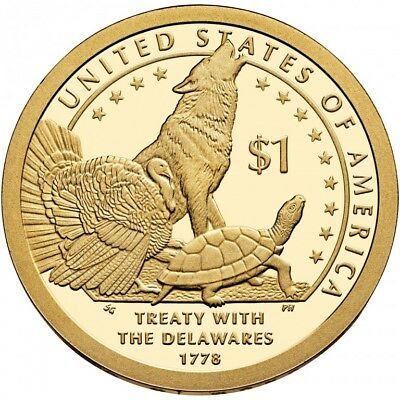 2013 P&D Native American One Dollar Coin Sacagawea Treaty With The Delawares