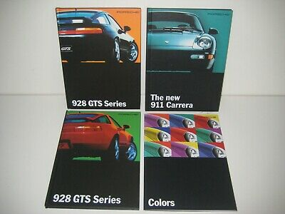 Three Porsche 1993 911 and 928GTS Hard-Bound Brochures plus Color Brochure