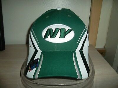 dff5e8bf020 NEW NY NEW York Jets Mens OSFA Reebok Green White Golf Visor Hat  20 ...