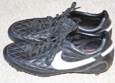 cf814ccee Mens Nike Ronaldinho 10R Football Boots Uk 8 Black Leather With 6 Studs
