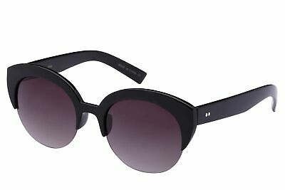Edge I-Wear Half Frame Round Circle Cat Eye Sunglasses with Gradient Lens 31964-
