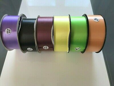 "50 mm 2"" poly satin finish ribbon full roll 100m/100 yards various colours"