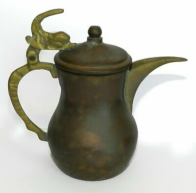 Antique Islamic Persian Heavy Thick Copper Ottoman Turkish Ewer Ibrik Pitcher