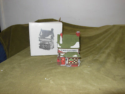 Department 56 T. Wells Fruit and Spice Shop Dickens Village 1988 Dept. 5924-2