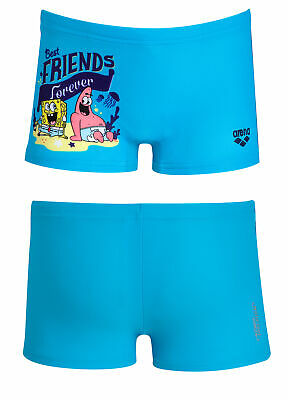 Arena - Costume Short Jr - Sponge Friends- 1A89386 - Turquoise - Waterfeel X-Lif