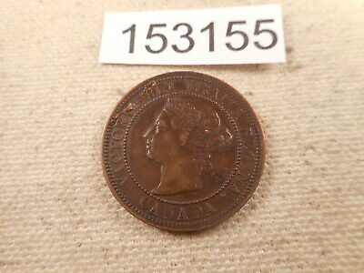 1888 Canada Large Cent Very Nice Collector Grade Raw Album Coin - # 153155