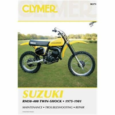 Clymer Dirt Bike Manual - Suzuki RM50-400 Twin-Shock - SUZ RM100 1976 - 1979;