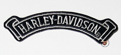 Authentic Harley Davidson Vintage Curved Banner Patch Leather