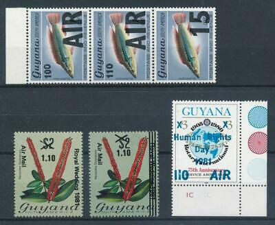 [72431] Guyana good lot Very Fine MNH Airmail stamps