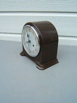 Smiths Enfield Bakelite dome top mantle clock working cleaned lubricated     B5